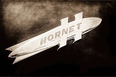 1951 Hudson Hornet Emblem Art Print