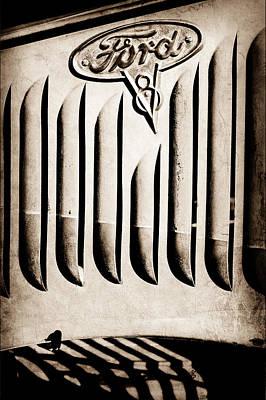 Photograph - 1951 Mercury Custom Emblem by Jill Reger