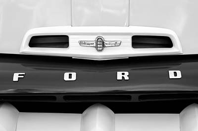 Photograph - 1952 Ford F-6 Pickup Truck Grille Emblem by Jill Reger