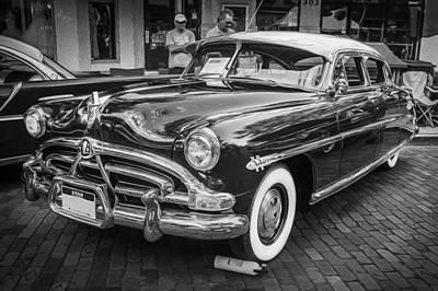 Photograph - 1952 Hudson Hornet 4 Door Sedan Twin H Power Painted Bw  by Rich Franco