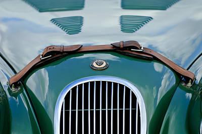 Photograph - 1952 Jaguar Xk 120 John May Speciale Grille Emblem by Jill Reger