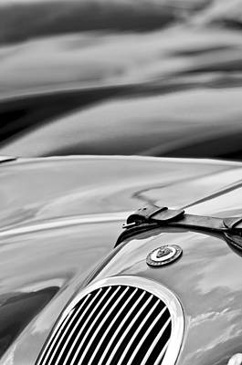 Photograph - 1952 Jaguar Xk 120 John May Speciale Hood Emblem by Jill Reger