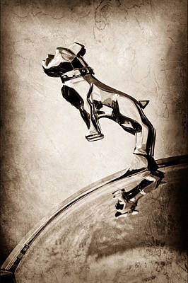 1952 L Model Mack Pumper Fire Engine Hood Ornament Art Print