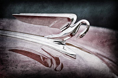1952 Packard 400 Hood Ornament Art Print by Jill Reger