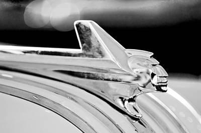 1952 Pontiac Chieftain Hood Ornament Art Print by Jill Reger