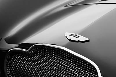 Car Photograph - 1953 Aston Martin Db2-4 Bertone Roadster Hood Emblem by Jill Reger