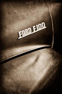 1953 Ford F-100 Pickup Truck Emblem Art Print