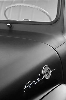 1953 Ford F-100 Pickup Truck Steering Wheel And Emblem Art Print by Jill Reger