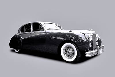 1953 Jaguar Mk Vii  Art Print by Allen Beatty