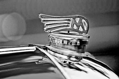 Photograph - 1953 Morgan Plus 4 Le Mans Tt Special Hood Ornament by Jill Reger