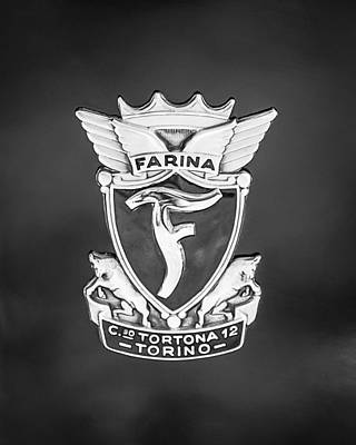 1953 Siata Daina Farina Emblem Art Print by Jill Reger