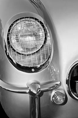 1954 Chevrolet Corvette Headlight Print by Jill Reger