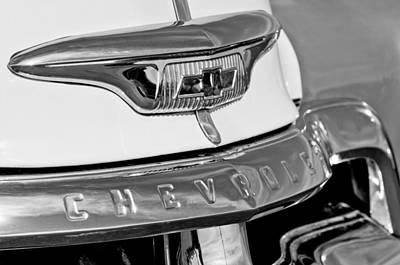Photograph - 1954 Chevrolet Panel Truck Hood Emblem by Jill Reger