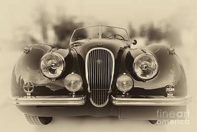 Old Photograph - 1954 Jaguar Xk120 by George Atsametakis