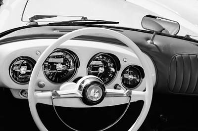 Photograph - 1954 Kaiser-darrin Roadster Steering Wheel by Jill Reger