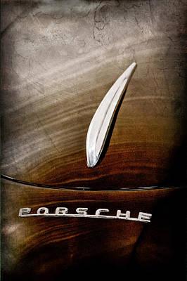 Porsche Logo Photograph - 1954 Porsche 356 1500 Bent-window Coupe Hood Ornament - Emblem by Jill Reger