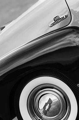 1955 Chevrolet Photograph - 1955 Chevrolet 3100 Pickup Truck Emblem by Jill Reger