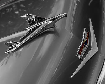 Photograph - 1955 Chevrolet Bel Air Eagle by Ron Pate