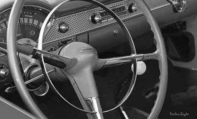 Ps I Love You - 1955 Chevy Nomad Steering Wheel by Barbara Snyder