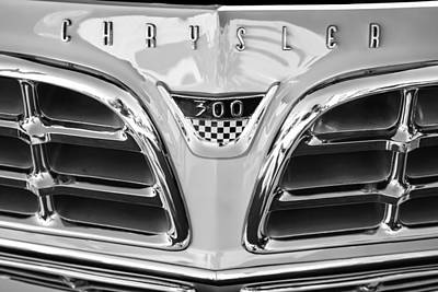 Photograph - 1955 Chrysler C-300 Grille Emblem by Jill Reger