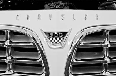 Photograph - 1955 Chrysler C300 Grille Emblem by Jill Reger