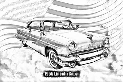 Photograph - 1955 Lincoln Capri Luxury Car by Keith Webber Jr