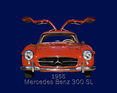 Photograph - 1955 Mercedes Benz 300 S L  by Jack Pumphrey