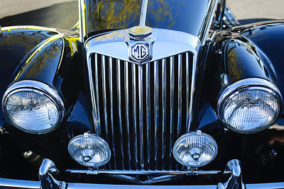Photograph - 1954 Mg Tf Grille Emblem by Jill Reger