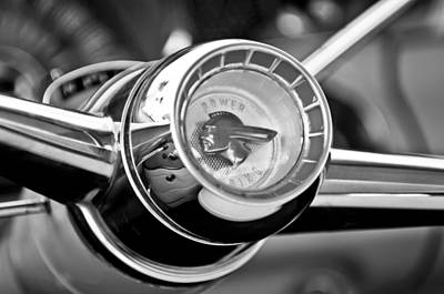 Photograph - 1955 Pontiac Safari Steering Wheel Emblem by Jill Reger