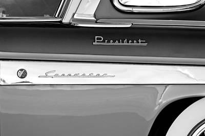 Photograph - 1955 Studebaker President Emblems by Jill Reger