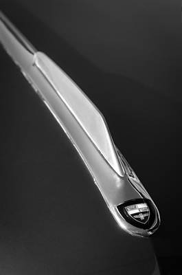 Photograph - 1955 Studebaker President Hood Emblem by Jill Reger