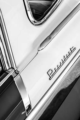 Photograph - 1955 Studebaker President Side Emblem by Jill Reger