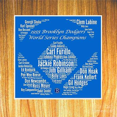 1955 World Series Champion Dodgers Art Print by Spencer McKain