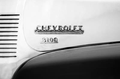 1956 Chevrolet 3100 Pickup Truck Emblem Art Print