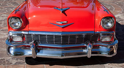 V8 Car Photograph - 1956 Chevrolet Belair Convertible Custom V8 by Jill Reger