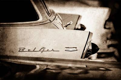 1956 Chevrolet Belair Nomad Rear End Emblem Art Print by Jill Reger
