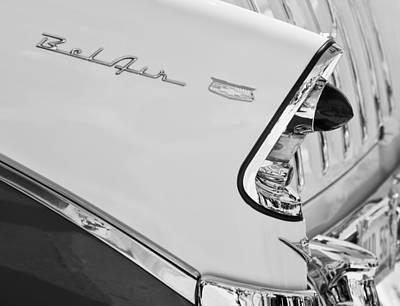 1956 Chevrolet Belair Nomad Taillight Emblem Art Print by Jill Reger
