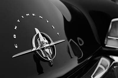 Photograph - 1956 Continental Mark II Coupe Rear Emblem by Jill Reger