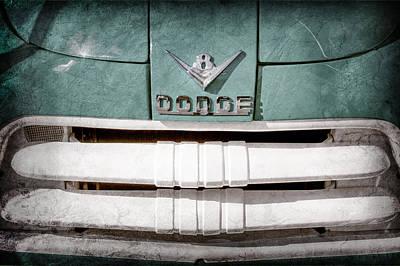 1956 Dodge Pickup Grille Emblem Art Print