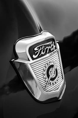 1956 Ford Photograph - 1956 Ford Emblem by Jill Reger