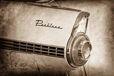 1956 Ford Photograph - 1956 Ford Parklane Wagon Taillight Emblem by Jill Reger