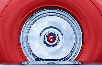 1956 Ford Photograph - 1956 Ford Thunderbird Spare Tire Emblem by Jill Reger