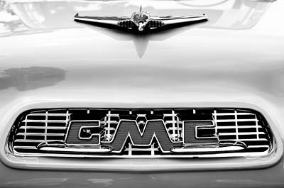 Hood Ornament Photograph - 1956 Gmc 100 Deluxe Edition Pickup Truck Hood Ornament - Grille Emblem by Jill Reger