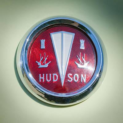 Wagon Photograph - 1956 Hudson Rambler Station Wagon Hood Ornament - Emblem by Jill Reger