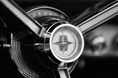 Photograph - 1956 Lincoln Continental Mark II Hess And Eisenhardt Convertible Steering Wheel Emblem by Jill Reger