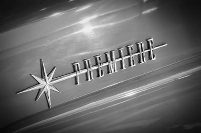 Photograph - 1956 Lincoln Premiere Emblem by Jill Reger