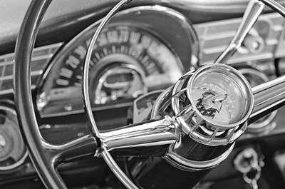 1956 Pontiac Chieftain Steering Wheel Art Print by Jill Reger