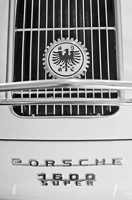 Photograph - 1956 Porsche 1600 Super Emblem by Jill Reger