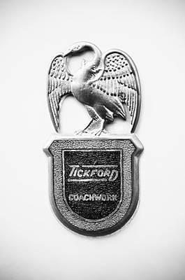 Photograph - 1957 Aston Martin Mk IIi Prototype - Tickford Coachwork Emblem by Jill Reger