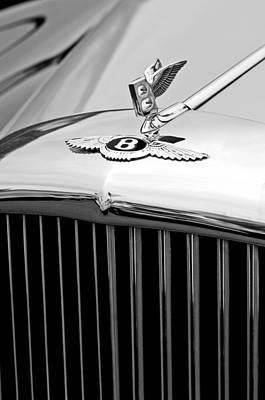 Photograph - 1957 Bentley S-type Hood Ornament And Emblem by Jill Reger